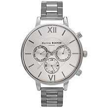 Buy Olivia Burton OB15CG50 Women's Chronograph Detail Bracelet Watch, Silver Online at johnlewis.com