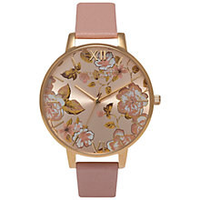Buy Olivia Burton OB15PL21 Women's Parlour Leather Strap Watch, Dusty Pink/Multi Online at johnlewis.com