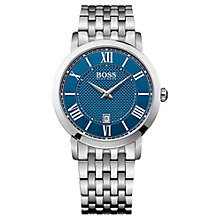 Buy Hugo Boss 1513140 Men's Gentlemen Steel Mesh Bracelet Watch Online at johnlewis.com