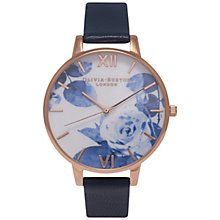 Buy Olivia Burton OB15PP02 Women's Painterly Prints Watch, Blue Online at johnlewis.com