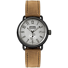 Buy Barbour BB022GNBR Men's Fowler Light Leather Strap Watch, Brown/Grey Online at johnlewis.com