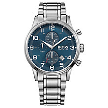 Buy Hugo Boss 1513181 Men's Aeroliner Bracelet Strap Watch Online at johnlewis.com