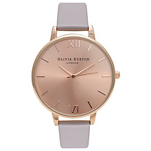 Buy Olivia Burton OB14BD20 Women's Big Dial Leather Strap Watch Online at johnlewis.com