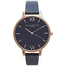 Buy Olivia Burton Women's Big Dial Leather Strap Watch Online at johnlewis.com