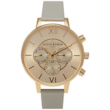 Buy Olivia Burton OB15CG51 Women's Chronograph Detail Watch, Grey/Gold Online at johnlewis.com