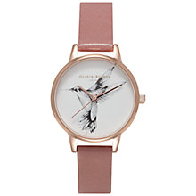 Buy Olivia Burton OB15AM53 Women's Animal Motif Watch, Rose Hummingbird Online at johnlewis.com