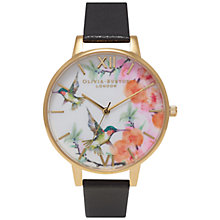 Buy Olivia Burton OB15PP01 Women's Painterly Prints Watch, Black Online at johnlewis.com