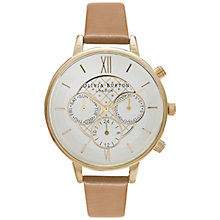 Buy Olivia Burton OB15CG53 Women's Chronograph Detail Watch, Camel Online at johnlewis.com