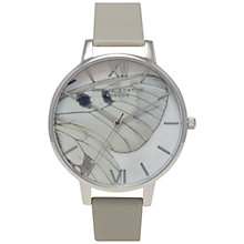 Buy Olivia Burton OB15WL46 Women's Woodland Butterfly Watch, Grey Online at johnlewis.com