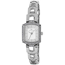 Buy Radley RY4195 Women's Grosvenor Stone Bracelet Strap Watch, Silver Online at johnlewis.com