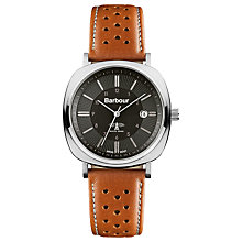Buy Barbour Men's Beacon Drive Leather Strap Watch Online at johnlewis.com