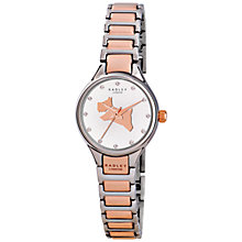 Buy Radley Women's Classic Dog Bracelet Strap Watch, Silver/Rose Gold Online at johnlewis.com