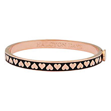 Buy Halcyon Days Skinny Hearts Gold Plated Bangle Online at johnlewis.com