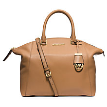 Buy MICHAEL Michael Kors Riley Large Leather Satchel Bag Online at johnlewis.com
