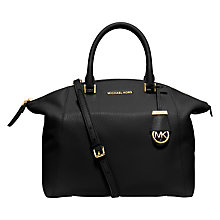 Buy MICHAEL Michael Kors Riley Large Leather Satchel Online at johnlewis.com