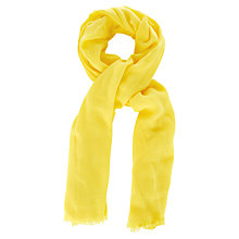 Buy Oasis Textured Bright Scarf, Pale Yellow Online at johnlewis.com