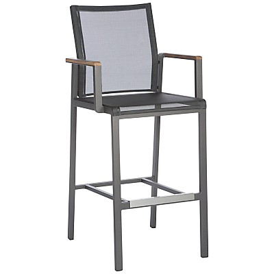 Barlow Tyrie Aura Outdoor Bar Chair, Graphite