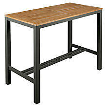 Buy Barlow Tyrie Aura Outdoor 4-Seat Bar Table, FSC-Certified (Teak), Graphite Online at johnlewis.com