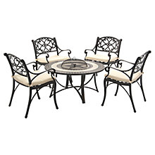 Buy Suntime Mosaic Firepit Outdoor Dining Set Online at johnlewis.com