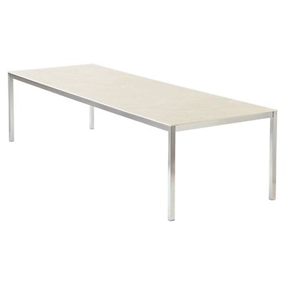 Barlow Tyrie Equinox 15-Seater Outdoor Dining Table, Ivory