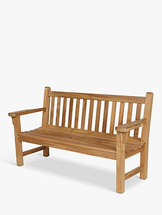 Barlow Tyrie London 3-Seat Garden Bench, Natural
