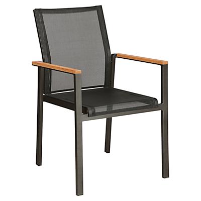Barlow Tyrie Aura Outdoor Armchair, FSC Certified, Teak/Charcoal