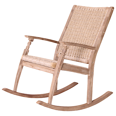 Leisuregrow Outdoor Wood & Weave Rocking Chair