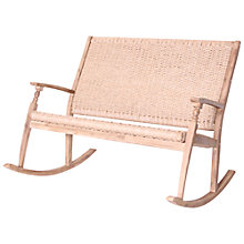 Buy Leisuregrow Wood & Weave 2-Seat Rocking Bench Online at johnlewis.com