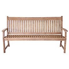 Buy LG Outdoor Hanoi Curved 3-Seat Bench, FSC-certified (Acacia) Online at johnlewis.com