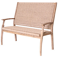 Buy Leisuregrow Wood & Weave 2-Seat Bench Online at johnlewis.com