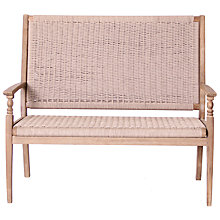 Buy LG Outdoor  Wood & Weave 2-Seat Bench, FSC-certified (Acacia) Online at johnlewis.com