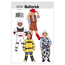 Buy Butterick Children's Fancy Dress Costume Sewing Pattern, 3244 Online at johnlewis.com