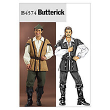 Buy Butterick Mens Robin Hood Costume Sewing Pattern, 4574 Online at johnlewis.com