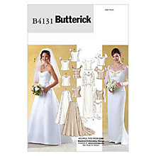 Buy Butterick Women's Wedding Top And Skirt Sewing Pattern, 4131 Online at johnlewis.com