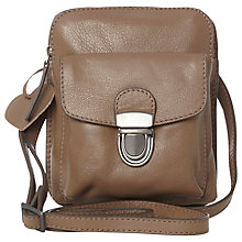 Buy White Stuff Patricia Leather Handbag, Pale Mocha Online at johnlewis.com