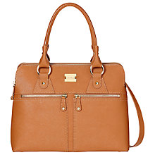 Buy Modalu Pippa Classic Leather Grab Bag, Chestnut Tan Online at johnlewis.com