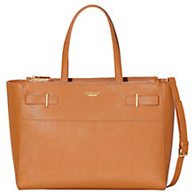 Buy Modalu Belle Leather Large Grab Bag, Chestnut Online at johnlewis.com