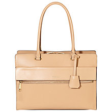 Buy Modalu Erin Leather Structured Tote Bag, Almond Tan Online at johnlewis.com