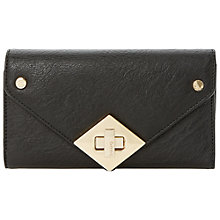 Buy Dune Kelly Fold Over Diamond Turnlock Purse, Reptile Online at johnlewis.com