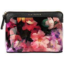 Buy Ted Baker Emoni Small Floral Wash Bag, Black Online at johnlewis.com