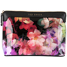 Buy Ted Baker Allana Large Floral Wash Bag, Black Online at johnlewis.com