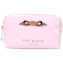 Buy Ted Baker Nellyy Small Slim Bow Wash Bag Online at johnlewis.com