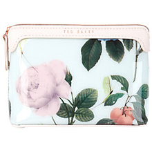 Buy Ted Baker Zabeth Distinguishing Rose Print Wash Bag, Mint Green Online at johnlewis.com