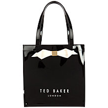 Buy Ted Baker Raycon Small Icon Shopper Bag, Black Online at johnlewis.com