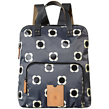 Buy Orla Kiely Etc Flower Spot Backpack, Pebble Grey Online at johnlewis.com