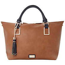 Buy Dune Deloris Tasselled Grab Bag, Tan Online at johnlewis.com