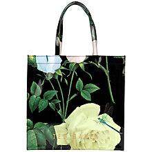 Buy Ted Baker Roscon Rose Icon Shopper Bag, Black Online at johnlewis.com
