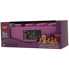 Buy LEGO Friends Brick Alarm Clock Online at johnlewis.com
