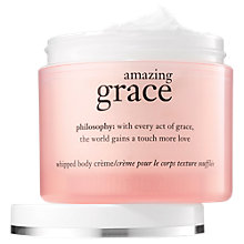 Buy Philosophy Amazing Grace Body Creme, 240ml Online at johnlewis.com