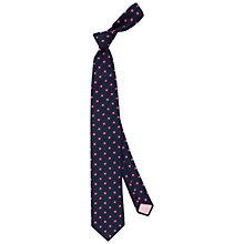 Buy Thomas Pink Royston Spot Tie, Navy/Pink Online at johnlewis.com